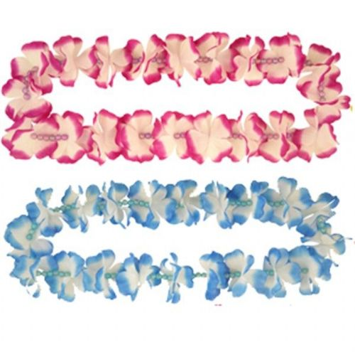 12 Deluxe Beaded Hawaiian Leis for Men's Ladies Summer Tropical Fancy Dress Accessories